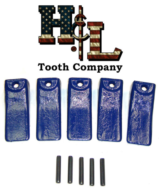 156SP Sharp Bucket Teeth (5 Pack) +Pins Forged in the USA by H&L Tooth Co. X156