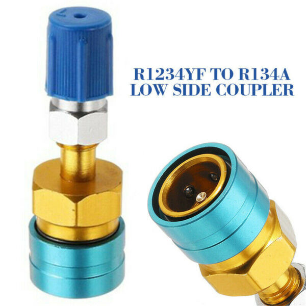 R1234YF to R134a Low Side Quick Coupler Adapters Car Air Conditioning Fitting US
