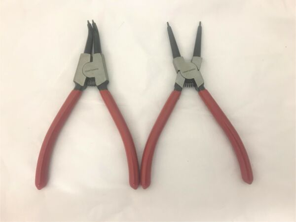 Craftsman 2pc 7quot; Snap Ring Pliers External Internal Hand Tools Set 21407 27021