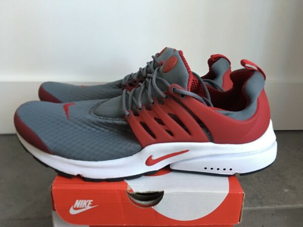 NEW Nike Air Presto Essential Men's Sz 14 Running Shoes Gym Red Gray 848187-008