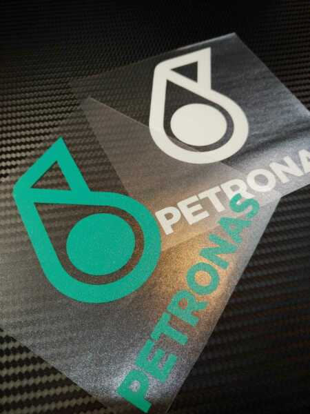 petronas oil racing stickers Decals 10cm x 10cm customer size
