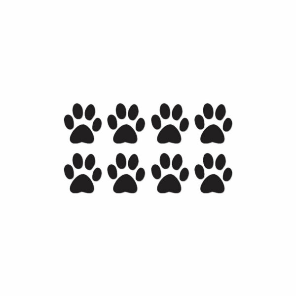 Eight Dog Paw Prints Vinyl Decal Sticker Multiple Color amp; Sizes ebn216 $3.16
