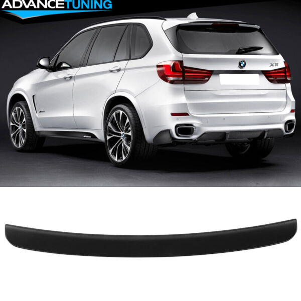 Fits 14-17 BMW F15 X5 MP Style Roof Spoiler Matte Black - ABS