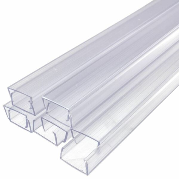 24 Inch LED Strip Light Mounting Track Clear PVC Channel 10 Pack SMD 3528
