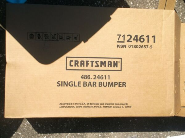 486.24611 Craftsman Single Bar Bumper