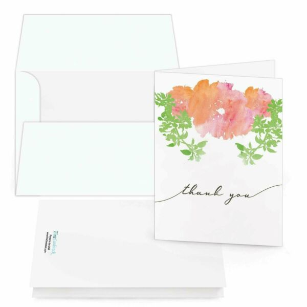 Thank You Cards Bulk Set Of 25 Thank You Folding Greetings and 25 Envelopes