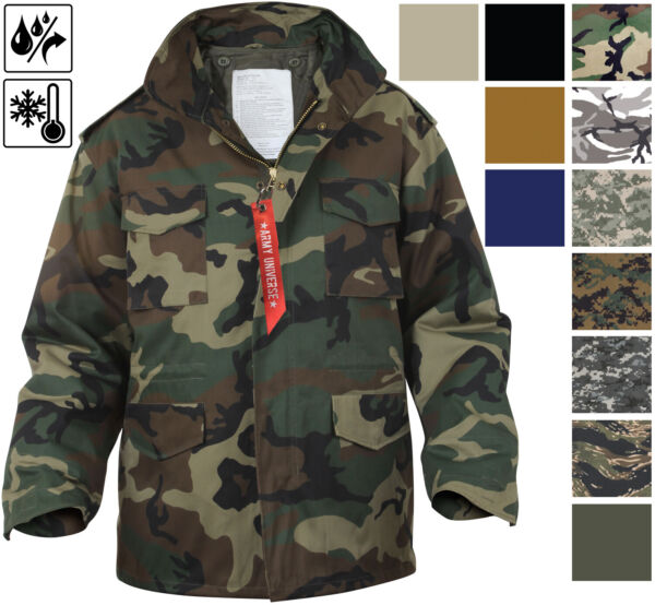 Military M 65 Field Jacket and Liner Tactical M65 Coat Uniform Army Camo $84.99