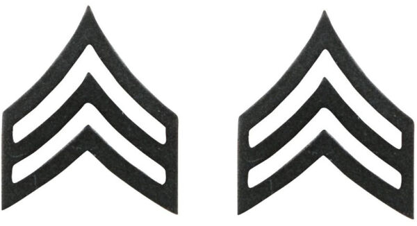 Subdued Sergeant United States Army Rank Insignia Pin