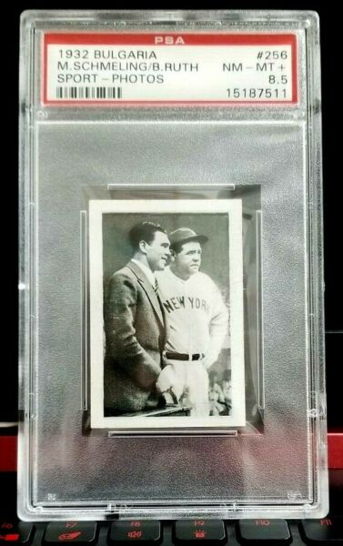 1932 BULGARIA BABE RUTH  SCHMELING PSA 8.5  !  ONLY 2 HIGHER  !  PRE-GOUDEY RARE
