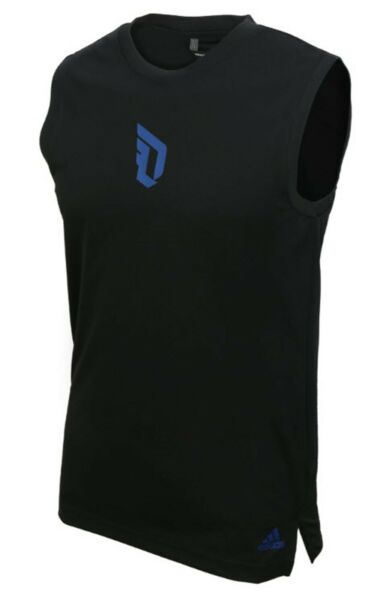 Adidas Men Dame Sleeveless Shirts Jersey Black Running Tank Top Shirt DZ0589