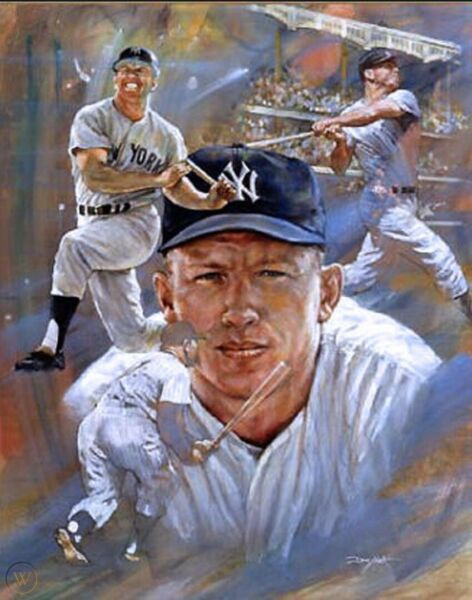 SALE!  $75 MICKEY MANTLE Lithograph LIMITED EDITION New York Yankees HOF