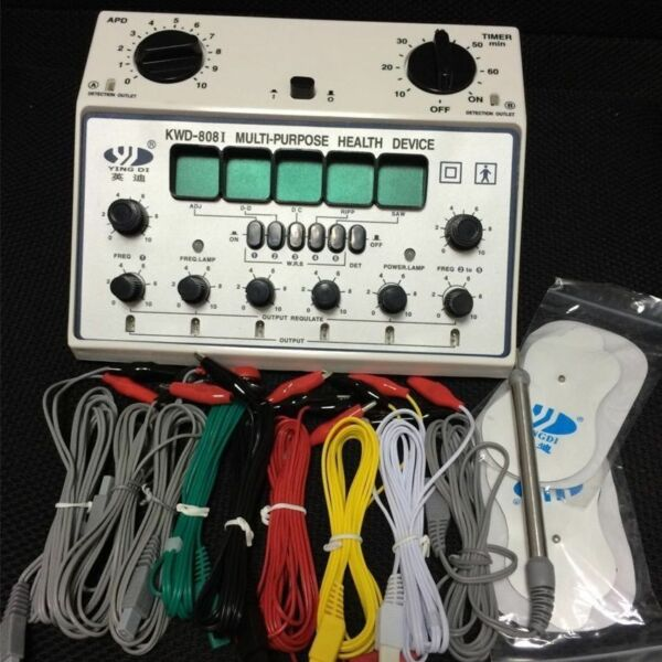 KWD808-I Electric Acupuncture Stimulator 6 Output Patch Electronic Massager Care