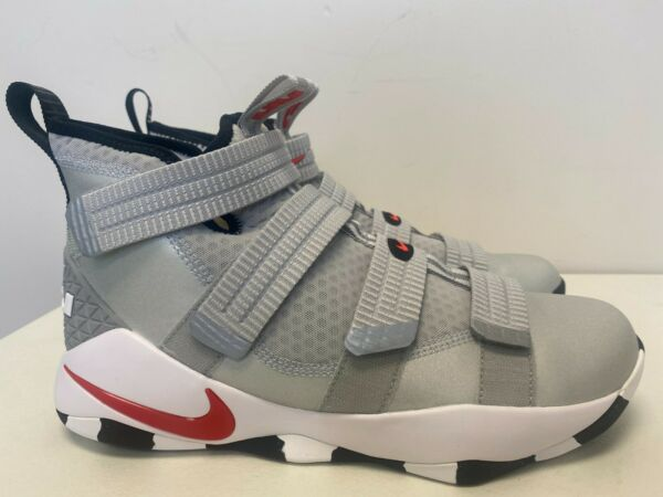 Nike Nike Lebron Soldier 10 X SFG Sneakers New, Silver REd 897646-007