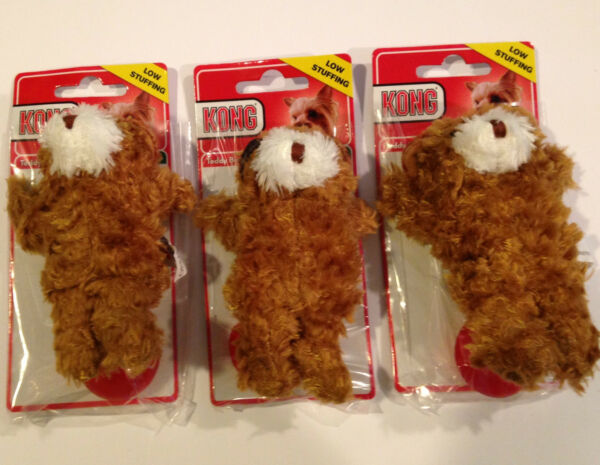 KONG Dr Noys Toy Extra Small Set of 3 Teddy Bears-Dog Toys For Small Dogs