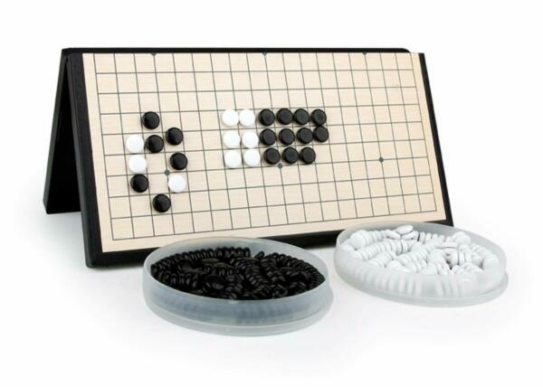 Magnetic Travel Go Game Set Magnetic Plastic Stones Large Fold Go board 磁力围棋 11
