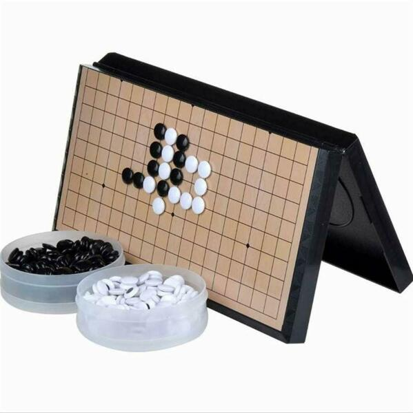 Magnetic Travel Go Game Set Magnetic Plastic Stones X-Large Foldable board 14.5