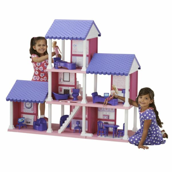 Barbie Dream Dollhouse Mansion Large Doll House Pretend Play with Furniture