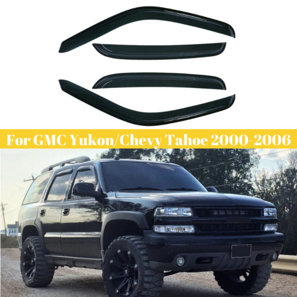 for GMC YukonChevy Tahoe 2000-2006 Window Vent Visors Deflector Part Rain Guard