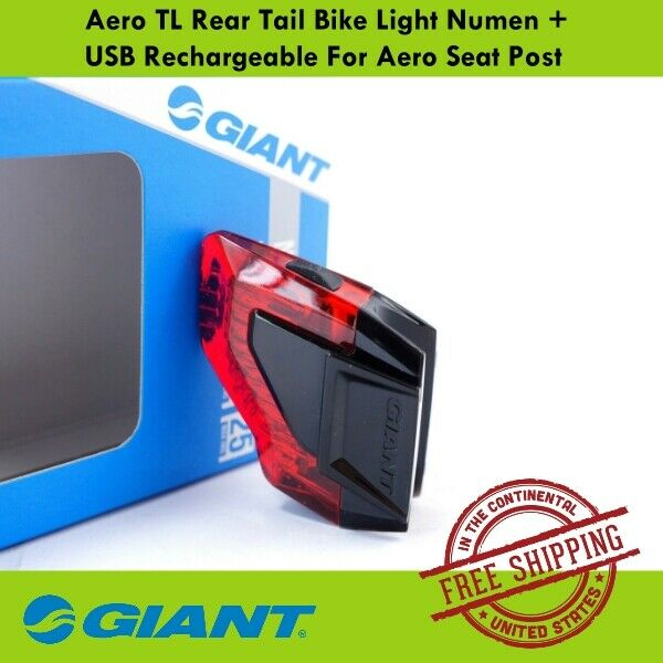 Giant Numen Rear Bike Light Aero TL 3 LED USB Tail Light For Aero Seatpost $31.39