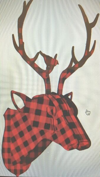 Red Black Buffalo Check Reindeer Wood Wall Decoration Holiday Rustic Cabi