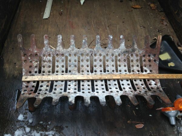 Rare Vtg fireplace grate cast iron super heavy duty