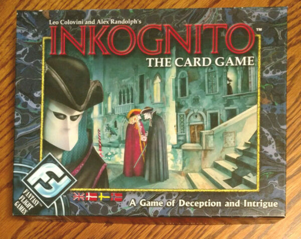 Inkognito The Card Game Fantasy Flight Deception Intrigue COMPLETE Unpunched
