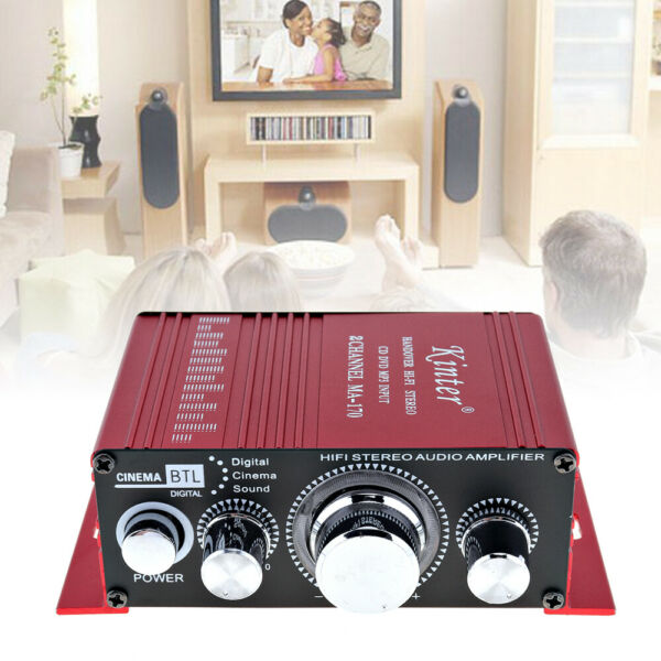 2CH Stereo Audio Amplifier Mini Hi-Fi Professional Digital Amp for Home Speakers