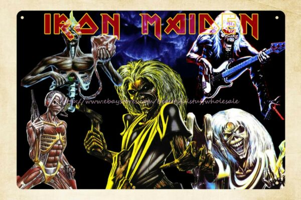 old signs for sale Iron Maiden English heavy metal band tin sign