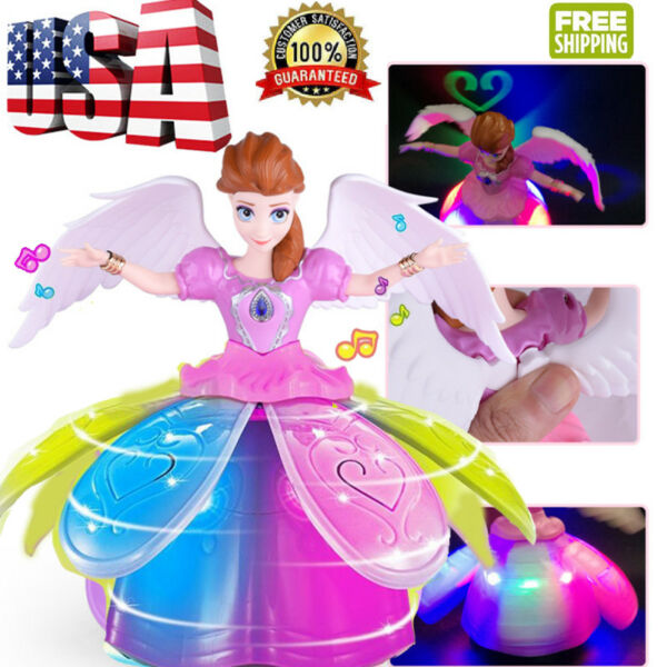 Electric Dancing Princess Doll Toys Baby Music Toys LED Light Girls Xmas Gift