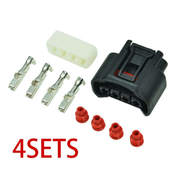 4 Sets 90980-11885 Ignition Coil Plug Connector Kit For Toyota Lexus Camry Yaris