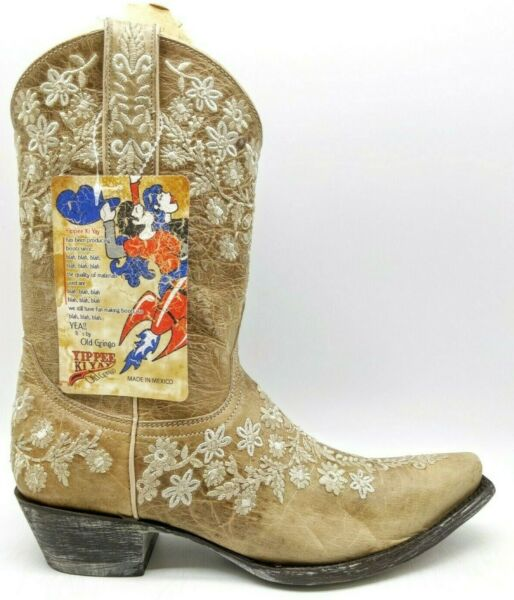 Old Gringo Yippee Kay Yay Eveleight Floral Western Cowboy Boots Women's 7 B