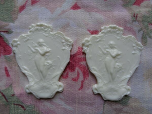 New! Beautiful Woman Goddess Furniture Applique Embellishment 2 pcs $6.99