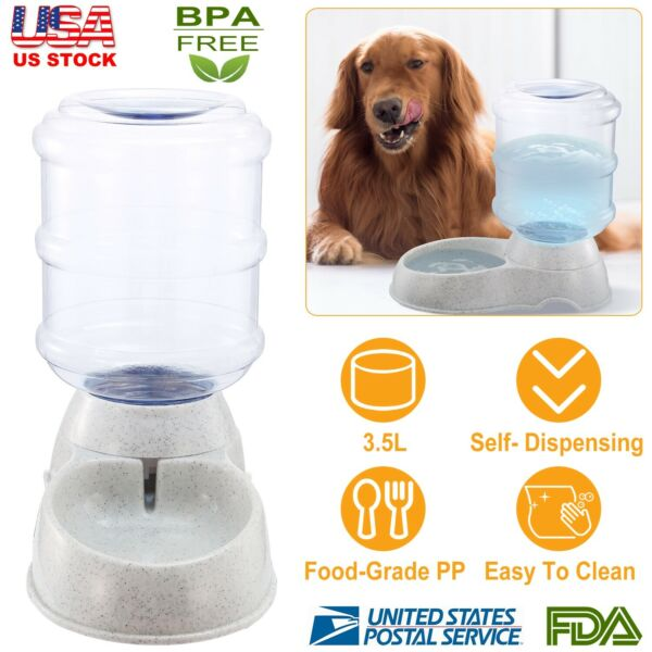 1 Gallon Dog Auto Waterer Automatic Water Dispenser Cat Pet Drinking Fountain