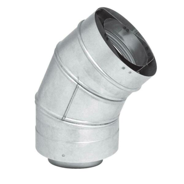 Rheem 3 inch x 5 inch Stainless Steel Concentric Venting 45 Degree Elbow 5 inch $67.86