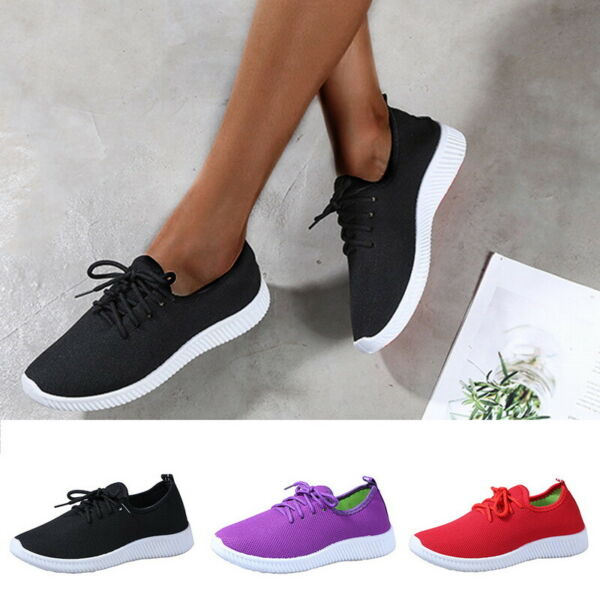 Women Breathable Sports Running Gym Sneakers Shoes Mesh Light Casual Shoes