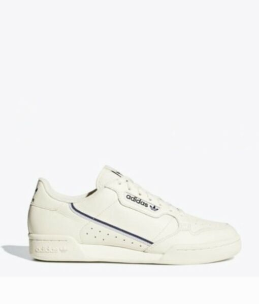 Adidas Original Continental 80 Lace Up Lifestyle Shoe Sneakers Off White Leather