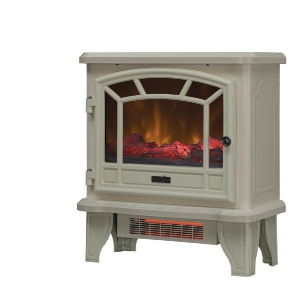 Duraflame Electric Fireplace Stove 1500 Watt Infrared Heater with Flickering Fla