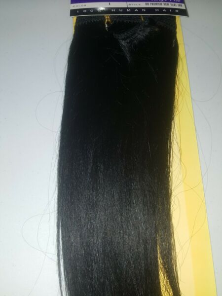 100% HUMAN HAIR TANGLE FREE;OUTRE PREMIUM NEW YAKI WEAVE;STRAIGHT;WEFT;HALF PACK