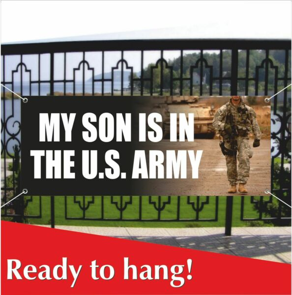 U.S. ARMY Military Custome Banner Vinyl  Mesh Banner Sign Flag Party Decoration