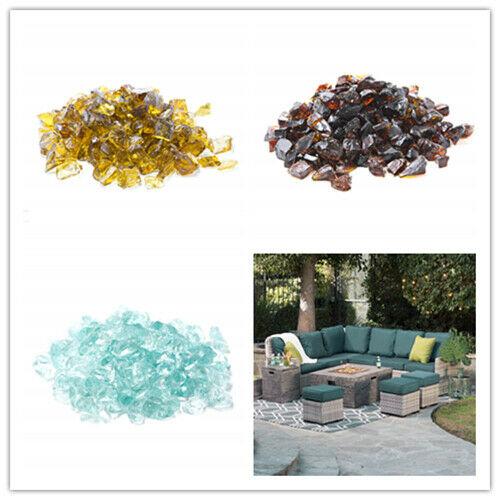 Recycled Fire Glass for Natural or Propane Fire PitFireplace and Fire Table