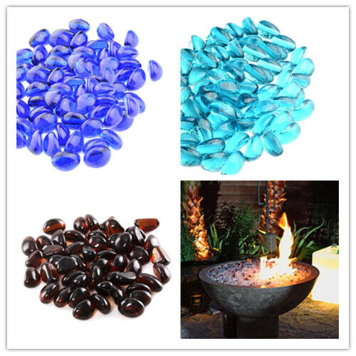 12-Inch Reflective Fire Glass Cashew for Fireplace Fire Pit or Lanscaping