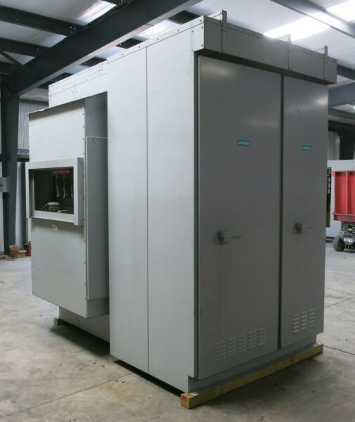 Siemens 1600A 480V 3W Small Outdoor Switchgear Substation Complete w Breakers 3R