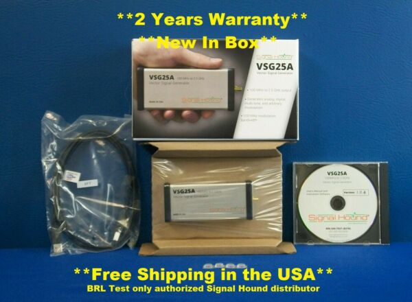 Signal Hound VSG25A Vector Signal Generator 100 MHz to 2.5 GHz New In Box