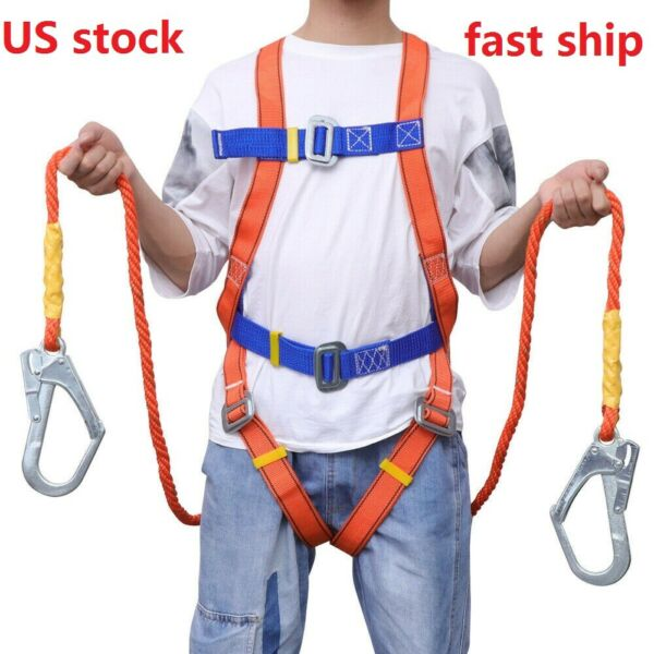 Outdoor Full Body Safety Rock Climbing Work Tree Rappelling Harness Seat Belt US