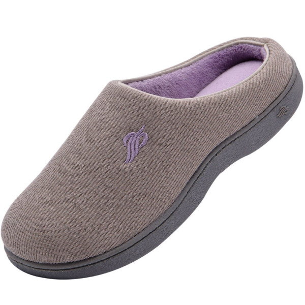 Wishcotton Womens Classic Two-Tone Slippers Comfy Memory Foam House Shoes Light