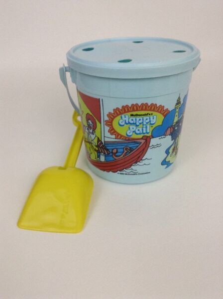 McDonalds Happy Pail Olympic Games with Bucket Shovel Lid Vintage 1983 1984