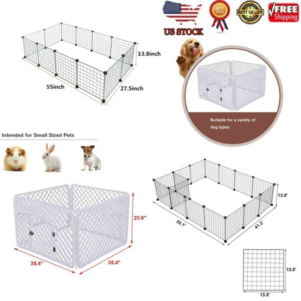41216 Panel Duty Exercise Dog Pet Fence Folding Playpen Metal Kennel Hammigrid