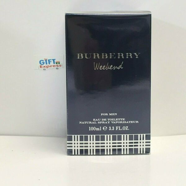 BURBERRY WEEKEND for Men Cologne EDT 3.3 oz 3.4 oz New in Box Sealed $28.95