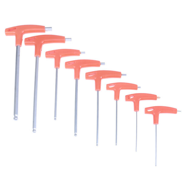 2.0mm-10mm Metric T Handle Allen Wrench Ball End Hex Key Long  MFWCP
