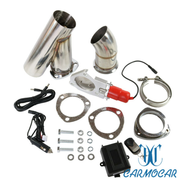 Mannal Electric Exhaust Catback Downpipe Cutout E-Cut Out Valve System 3